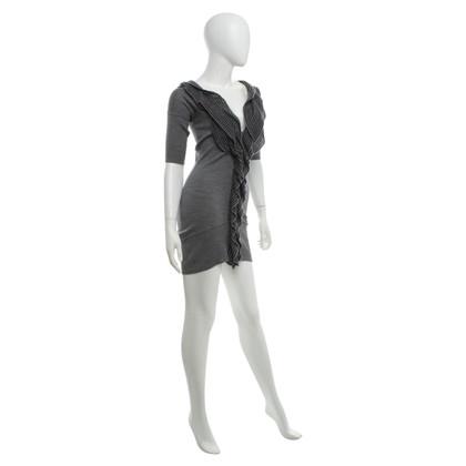 Karen Millen vestito lavorato a maglia in grigio
