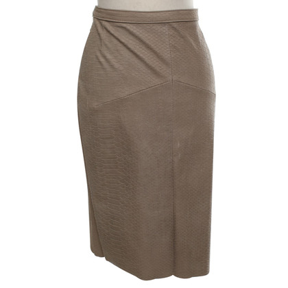Utzon Leather skirt in grey