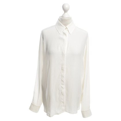 Frame Denim Zijden blouse in crème