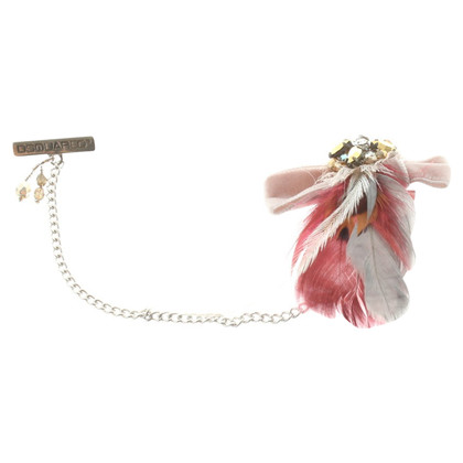 Dsquared2 Brooch with feather decor