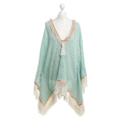 Other Designer Nizhoni - crochet poncho turquoise