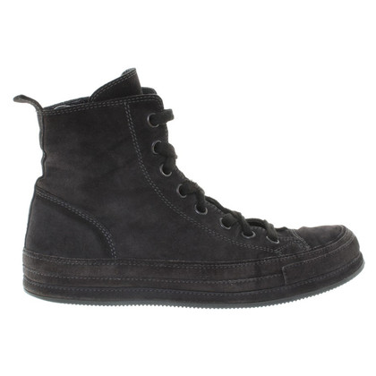 Ann Demeulemeester Suede Sneakers Anthracite
