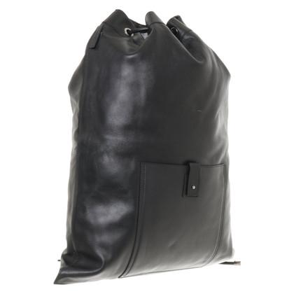 Gucci Sac à dos noir en cuir