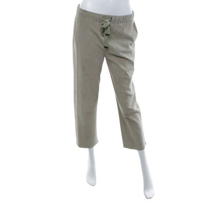 Steffen Schraut pantalon en daim olive clair