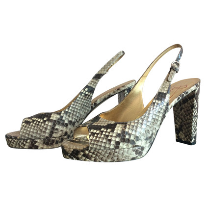Walter Steiger Peeptoes made of python leather