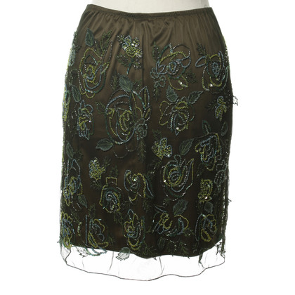La Perla Green skirt with applications