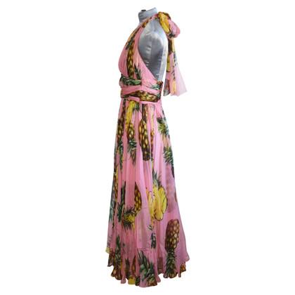 Dolce & Gabbana Pineapple Silk chiffon dress