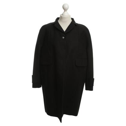 Carven Cotton coat in black