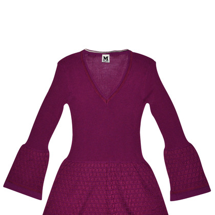 Missoni Purple Wool Knit Dress