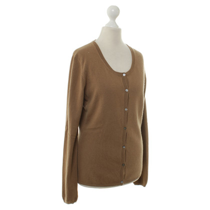 FTC Cardigan di cashmere in ocra