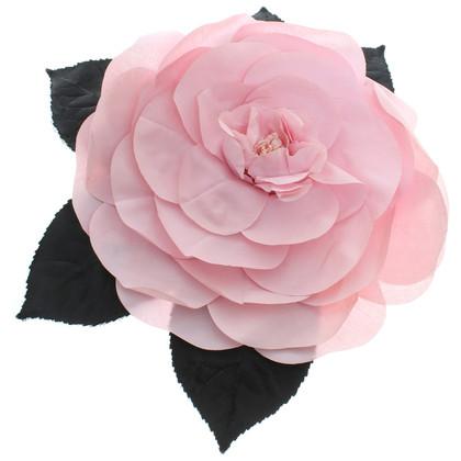 Chanel Bloem broche in roze