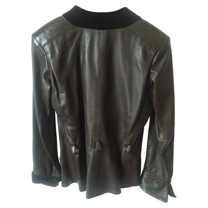 Yves Saint Laurent in pelle e velluto giacca