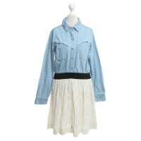 Sandro Dress made of denim / lace