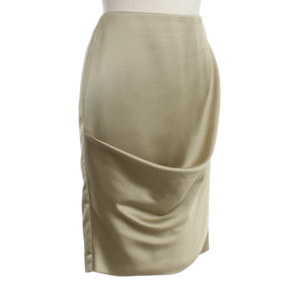 Armani Satin skirt in light khaki