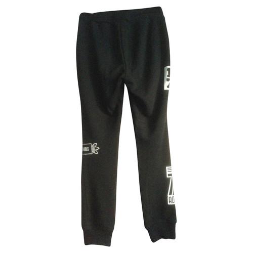 c81419968fd7ce Adidas Hose aus Baumwolle in Schwarz - Second Hand Adidas Hose aus ...