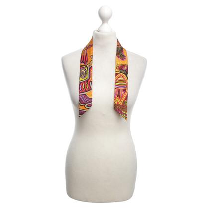 Hermès Schmales Tuch in Multicolor