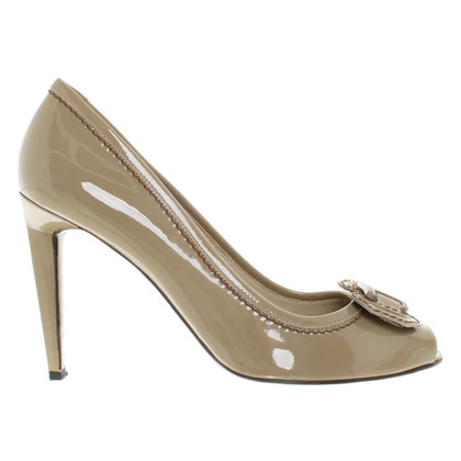 Fratelli Rossetti Lackleder Pumps in Beige