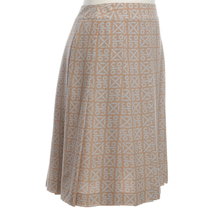 Chanel Pleated skirt of silk