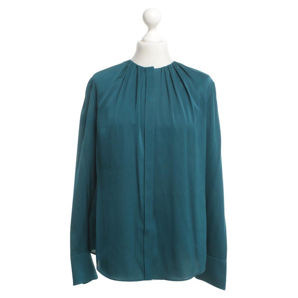 Hugo Boss Silk blouse in petrol