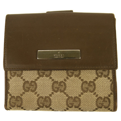 Gucci Monogram GG Leather & Canvas Wallet