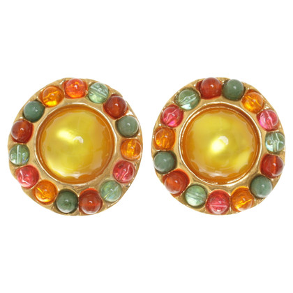 Chanel Clip earrings in multicolor