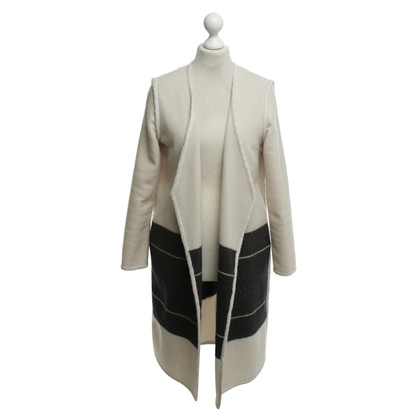 By Malene Birger Oversized Mantel in Creme/Anthrazit