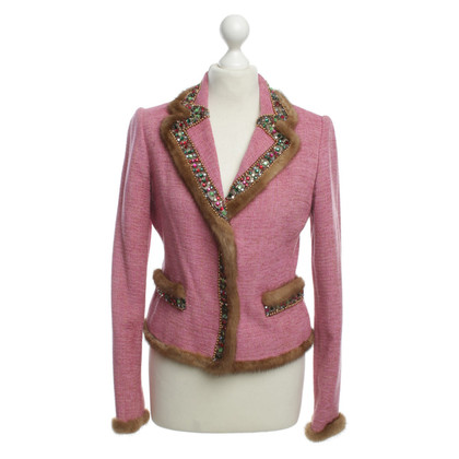 Blumarine Jacke in Pink mit Applikationen