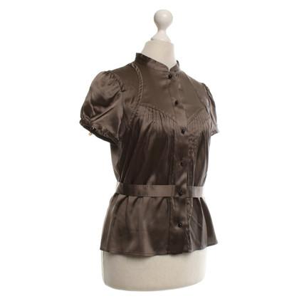 Carolina Herrera Zijden blouse in bruin