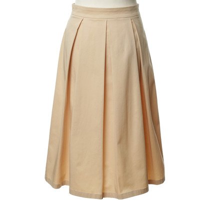 Patrizia Pepe Pleated skirt in nude