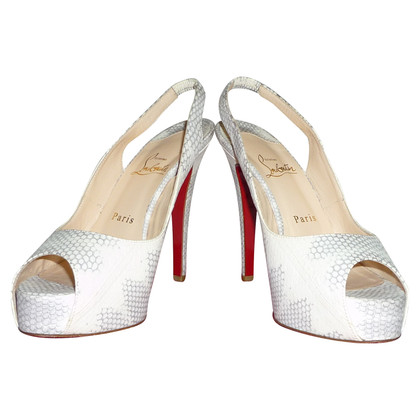 Christian Louboutin Snake leather peep-toes