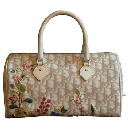 Christian Dior Borsa con ricami floreali
