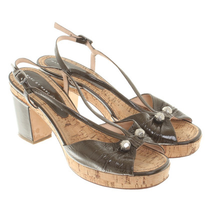 Marc by Marc Jacobs Kork-Sandaletten in Khaki