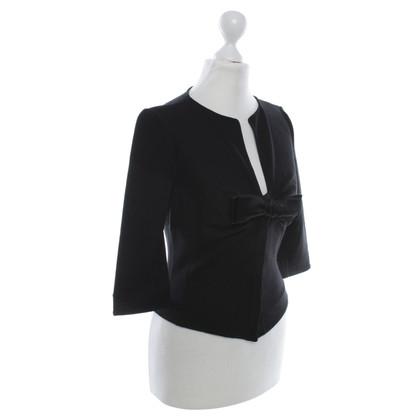 Armani Collezioni Jersey-Jacket in zwart