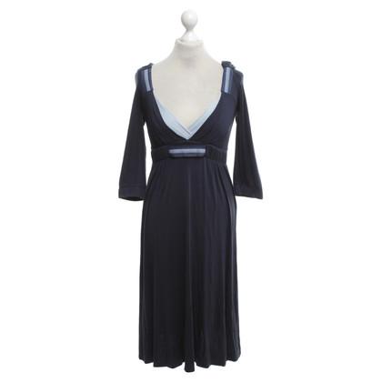 Max Mara Jersey jurk in donkerblauw