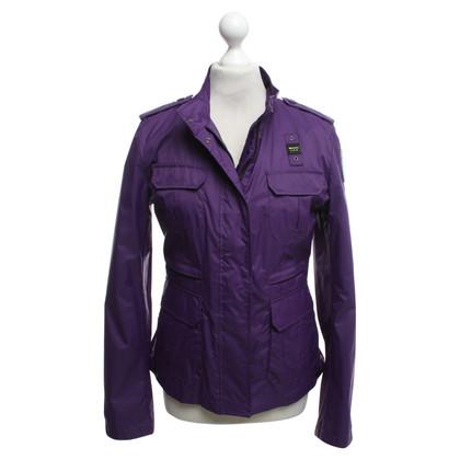 Blauer USA giacca antipioggia in viola