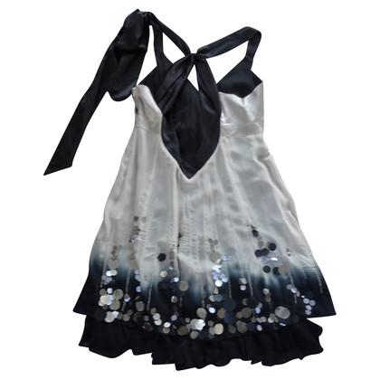 Karen Millen zijden jurk met grote pailletten