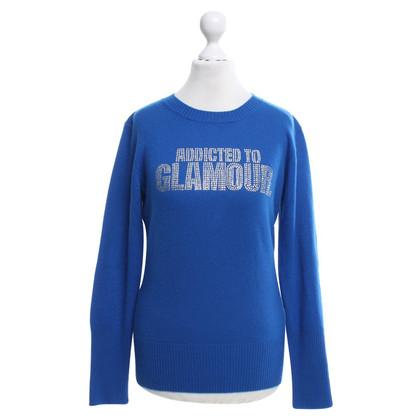 Andere merken e.vil - Blue pullover met decoratieve stenen