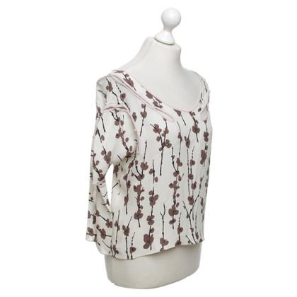 Marni camicetta di seta con stampa floreale