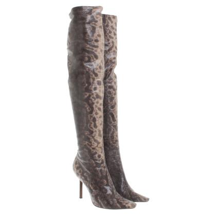 Gucci Overknees aus Schlangenleder