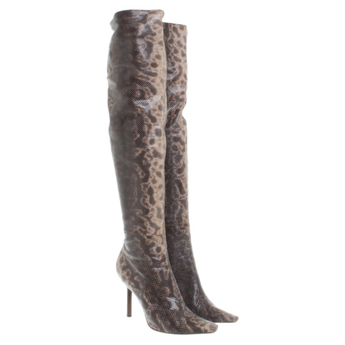 342d6955056 Gucci Overknees snake leather - Second Hand Gucci Overknees snake ...