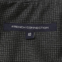 French Connection Kariertes Kleid in Schwarz/ Grau
