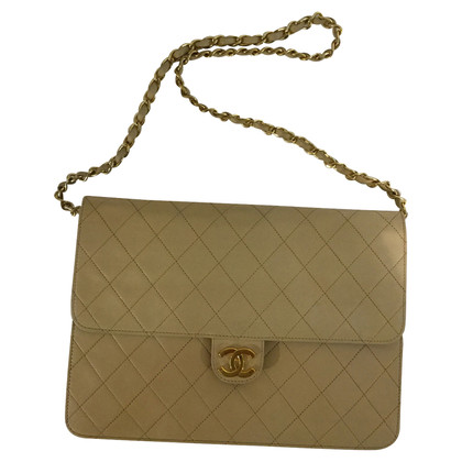 "Chanel ""Flap Bag"" in cream"
