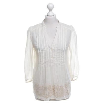 Tibi blouse en coton beige