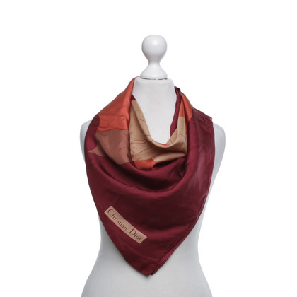 Christian Dior sciarpa di seta multicolore