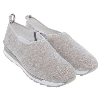 Hogan Silver-colored slippers
