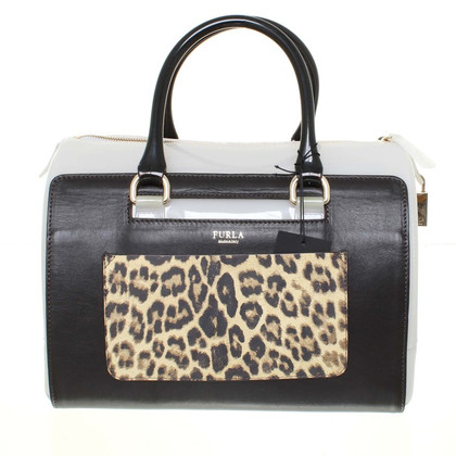 "Furla Bag ""candy M satchel"" in a material mix"