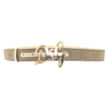 D&G Belt with checked pattern