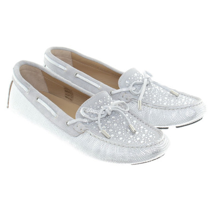 Bogner Silver colored Loafer