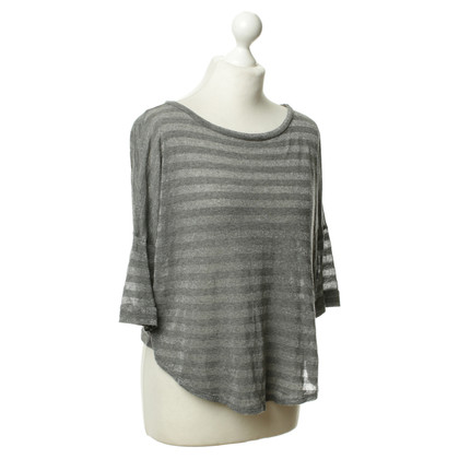 Velvet Knitted top in grey