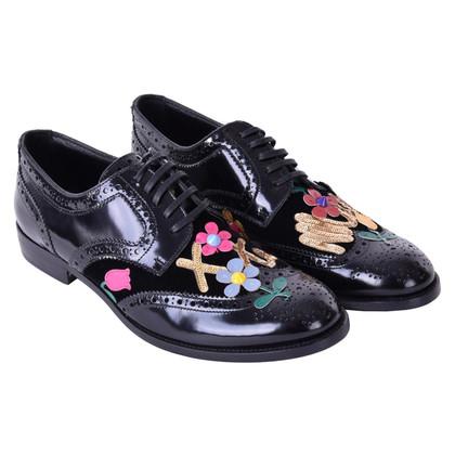 Dolce & Gabbana Schnürschuhe mit Applikationen